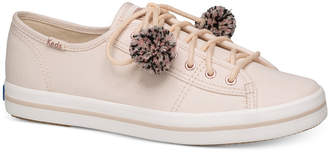 Keds Women's Kickstart Pom Pom Lace-Up Fashion Sneakers Women's Shoes