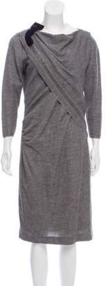 Giambattista Valli Woven Alpaca-Blend Dress Grey Woven Alpaca-Blend Dress