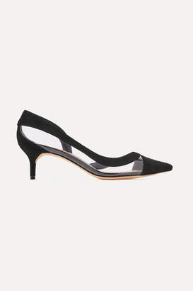 Alexandre Birman Wavee Two-tone Pvc And Suede Pumps - Black