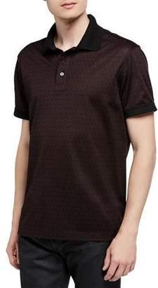 Salvatore Ferragamo Men's Gancini Cotton Pique Polo Shirt