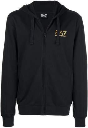 Emporio Armani Ea7 zipped hooded jacket