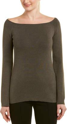 Lafayette 148 New York Boatneck Silk-Blend Sweater