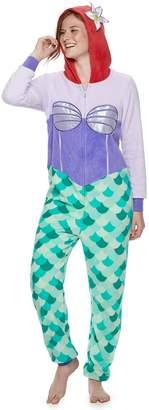 Disney Disney's The Little Mermaid Ariel Hooded One-Piece Pajamas