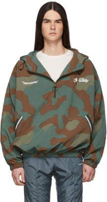 Off-White Green Camo Windbreaker Jacket