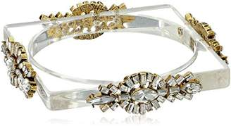Erickson Beamon Rocks Clear Lucite Bangle Bracelet