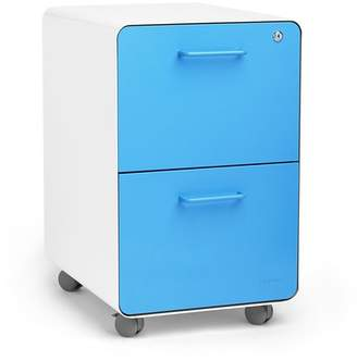 Poppin Rolling Stow 2-Drawer Vertical File Cabinet