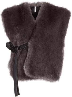 Helmut Lang Faux Fur Waistcoat