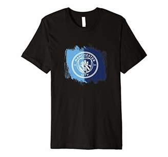 Manchester City - Brush effect Home colours tee