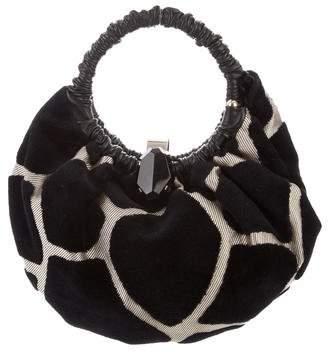 Giorgio Armani Leather-Trimmed Handle Bag