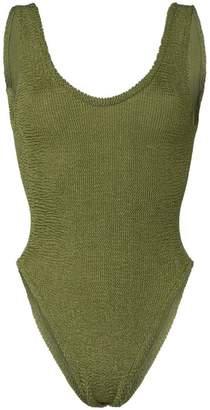 Hunza G Jeanne scoop neck high leg swimsuit