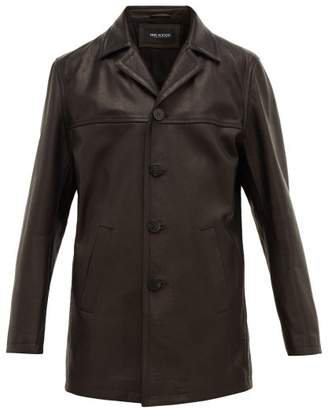 Neil Barrett Leather Jacket - Mens - Black