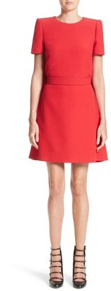 Women's Alexander Mcqueen Wool & Silk Cape Minidress