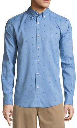 ST. JOHN'S BAY Long Sleeve Pattern Button-Front Shirt