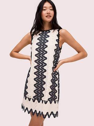 Kate Spade Sand Dune Lace Shift Dress, Black/Cream - Size 0