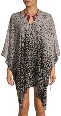 Printed V-Neck Cover-Up