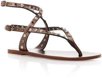 Isabel Marant Audrio Embellished Leather Sandals $800 thestylecure.com