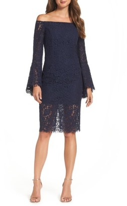 Women's Bardot Solange Corded Lace Sheath Dress $159 thestylecure.com