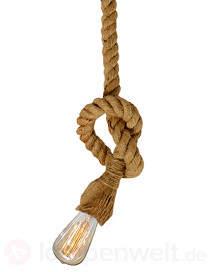 Maritime Hängeleuchte Rope m. Vintage-Leuchtmittel