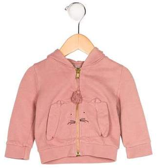 Emile et Ida Girls' Bunny Zip-Up Hoodie