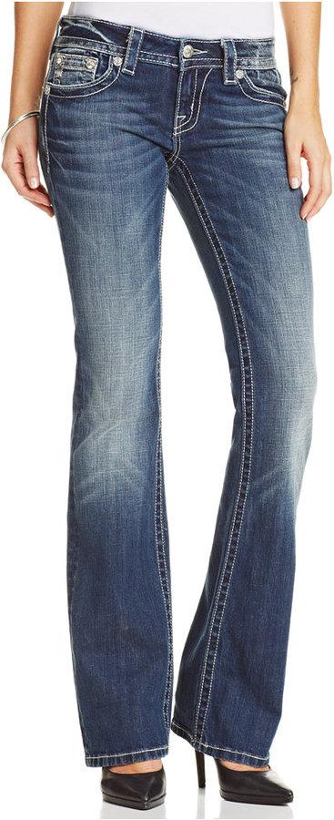 Miss Me Studded Fleur De Lise Bootcut Jeans