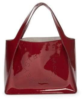 Stella McCartney Faux Patent Leather Dual Tote Bag