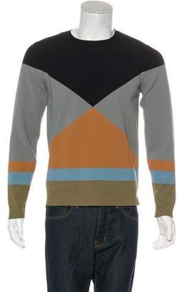 Valentino Color-Blocked Crew Neck Sweater