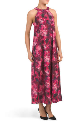 Made In Italy Python Halter Maxi Dress
