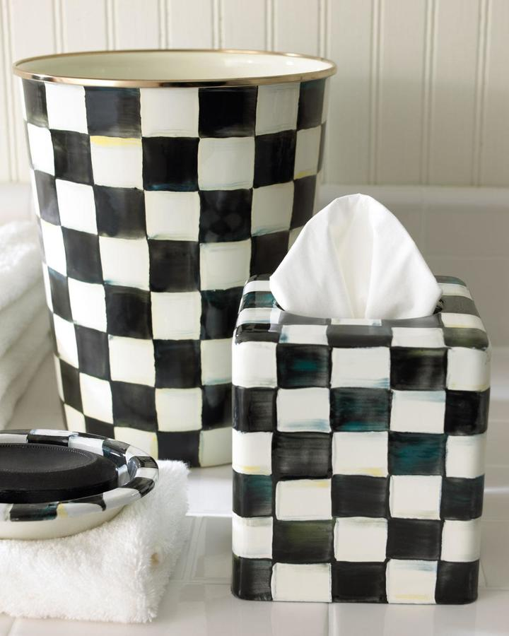 Mackenzie Childs MacKenzie-Childs Courtly Check Vanity Accessories