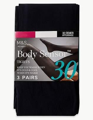 Marks and Spencer 3 Pair Pack 30 Denier Body SensorTM Tights