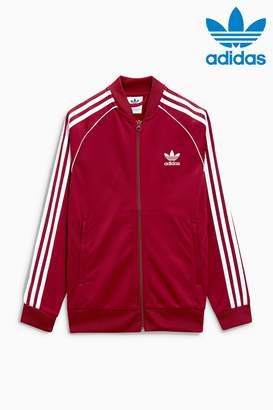 Next Boys adidas Originals Burgundy Superstar Track Top