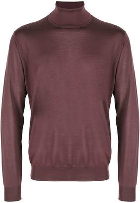 Corneliani turtle-neck fitted sweater