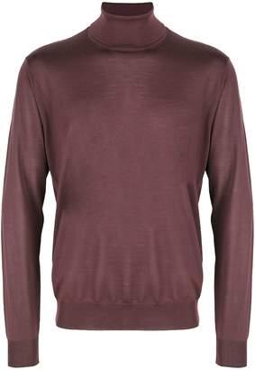 Corneliani turtle-neck fitted sweater