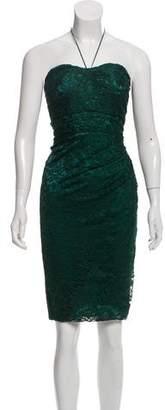 Dolce & Gabbana Lace Strapless Mini Dress