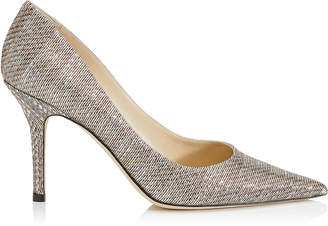 Jimmy Choo AGNES Gold Lurex Pointy Toe Pumps