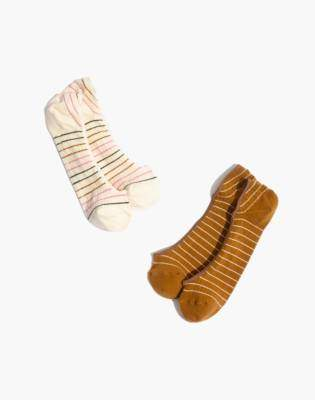 Madewell Two-Pack Multi-Stripe Low Profile Socks