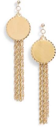 CAM Temperance Chain Fringe Earrings