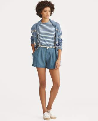Ralph Lauren Rope-Belt Linen Short