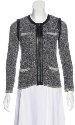 Rag & Bone Leather-Accented Collarless Jacket