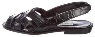 Saks Fifth Avenue Embossed Leather Sandals
