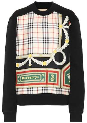 Burberry Archive Scarf cotton and silk sweatshirt