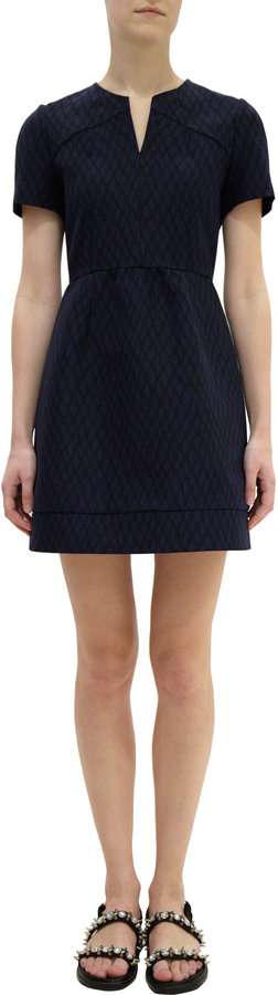 Marni Faille Cross Hatch Print Dress