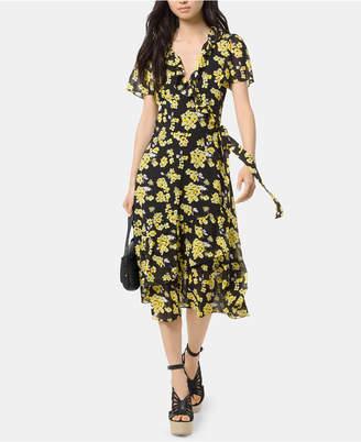 Michael Kors Floral-Print Wrap Dress