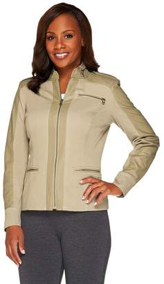 G.I.L.I. Got It Love It G.I.L.I. Twill Jacket with Perforated Faux Leather Details
