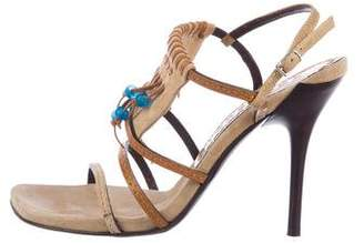 Casadei Suede Embellished Sandals