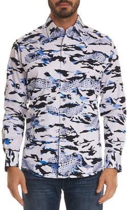 Robert Graham Men's Scales Classic Fit Camo-Design Sport Shirt
