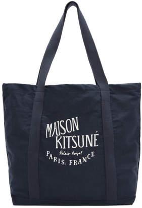 MAISON KITSUNÉ Blue Palais Royale Tote