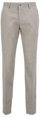 BOSS Slim-fit trousers in soft-washed melange cotton