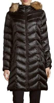 Dawn Levy Abilene Faux Fur-Trimmed Down Puffer Coat