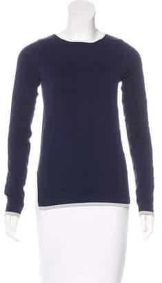 Tory Sport Chevron Knit Long-Sleeve Top