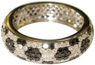 Artisan 14K Gold Full Eternity Womens Band With Black & White Diamonds